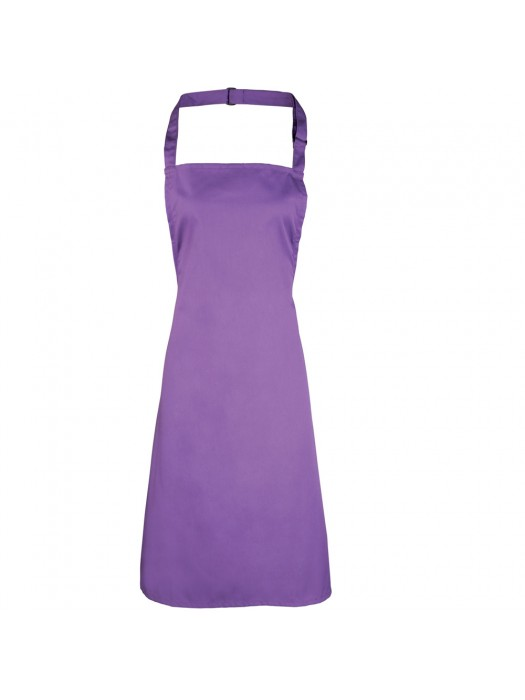 Plain Rich Violet Long Apron