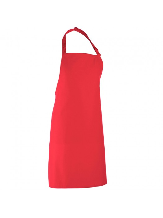 Plain Strawberry Red Long Apron