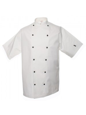 Plain jacket Short sleeve executive lechef PROFESSIONAL 215 GSM