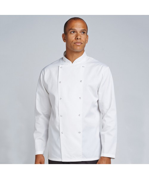 Plain jacket Chef's kit jacket with press stud AFD 200 GSM