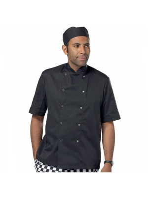Plain short sleeve press stud Chef's jacket Dennys LONDON 200 GSM