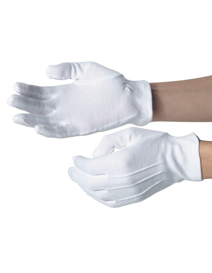 Plain Cotton glove elasticated cuff  Dennys LONDON