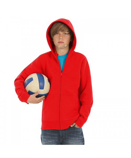 Plain Hooded  full-zip /kids B&C 280 GSM