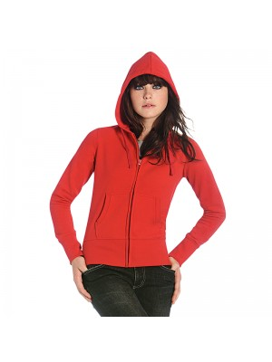 Plain Hooded full zip/women B&C 280 GSM