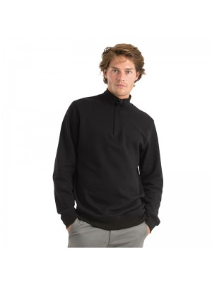 Plain sweatshirt ID.004 ¼ zip B&C 280 GSM