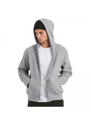 Plain Hooded  full zip /men B&C 280 GSM