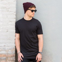 Plain t-shirt with dipped hem Longline SF 140 GSM