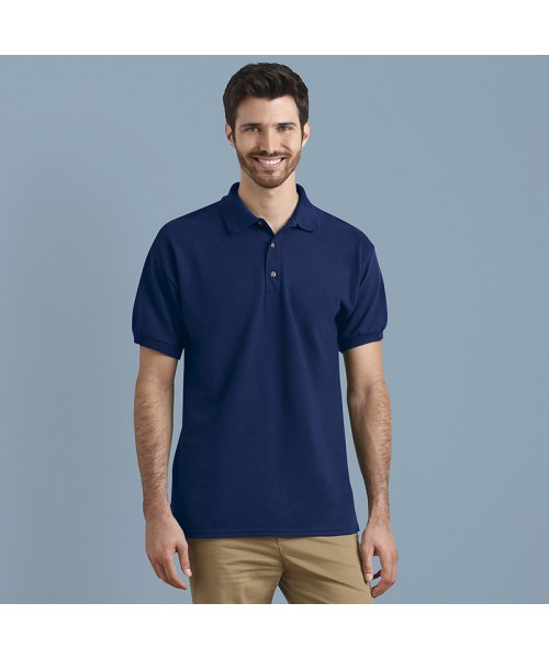 Plain polo Ultra Cotton™ ringspun adult piqué GILDAN 211 GSM