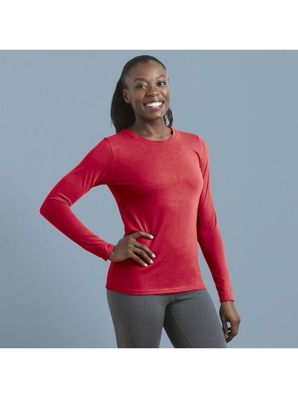 38f54980c Plain T-shirt Women's Gildan performance long sleeve GILDAN 145 GSM · Zoom