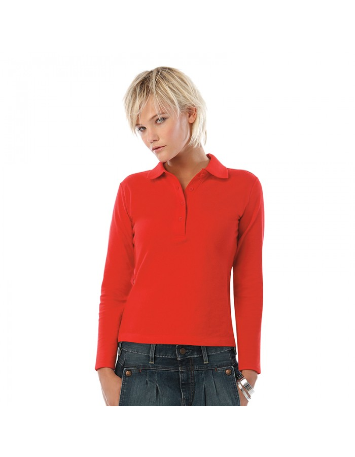 Plain long sleeve /women Safran pure B&C 180 GSM