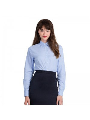 Plain Oxford long sleeve /women B&C 135 GSM