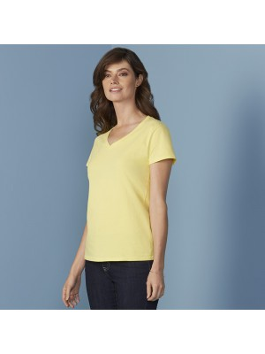 Plain T-shirt Women's premium cotton v-neck GILDAN 180 GSM