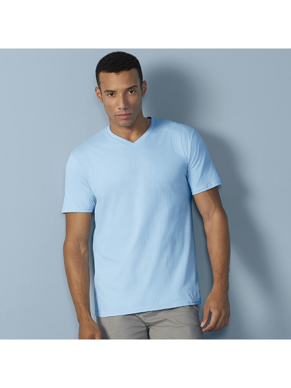 Plain t shirt premium cotton adult v neck gildan 180 gsm for Premium plain t shirts