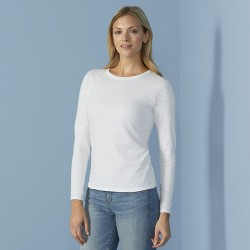 Plain T-shirt Softstyle® women's long sleeve GILDAN 141 GSM