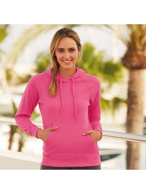 Plain sweatshirt Lady-fit lightweight hooded FRUIT of the LOOM 240 GSM