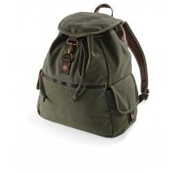Plain Vintage canvas backpack BAG QUADRA 580 GSM