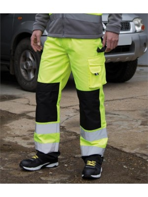 Plain SAFE-GUARD HI-VIS CARGO TROUSERS RESULT 280 GSM