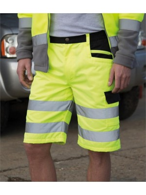 Plain SAFE-GUARD HI-VIS CARGO SHORTS RESULT 280 GSM