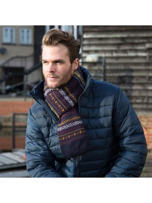 Plain Arran heavy knit scarve RESULT WINTER ESSENTIALS