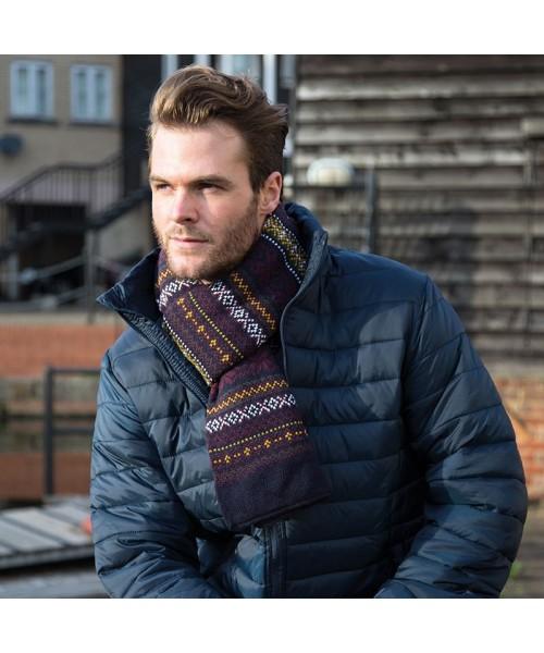 Plain Arran heavy knit scarve RESULT WINTER ESSENTIALS