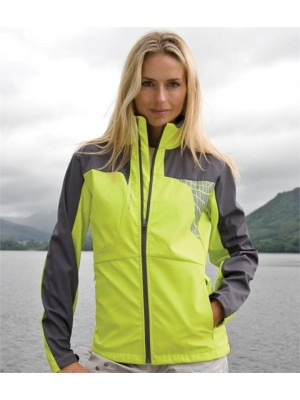 Plain LADIES TEAM SOFT SHELL JACKET SPIRO