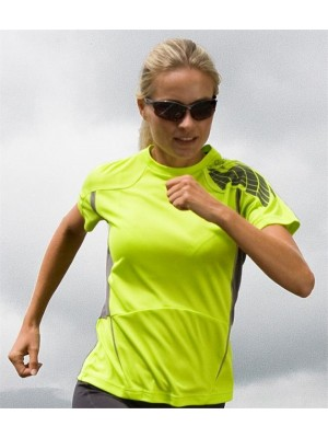 Plain LADIES TRAINING SHIRT SPIRO 145 GSM
