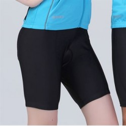 Plain LADIES BIKEWEAR PADDED CYCLING SHORTS SPIRO 200 GSM
