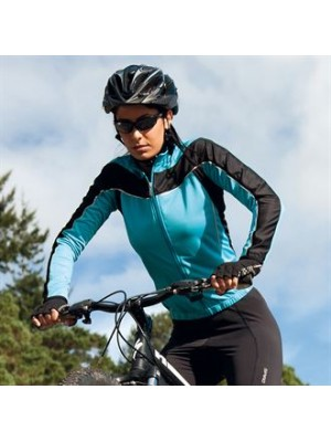 Plain LADIES BIKEWEAR LONG SLEEVE PERFORMANCE CYCLING TOP SPIRO 170 GSM