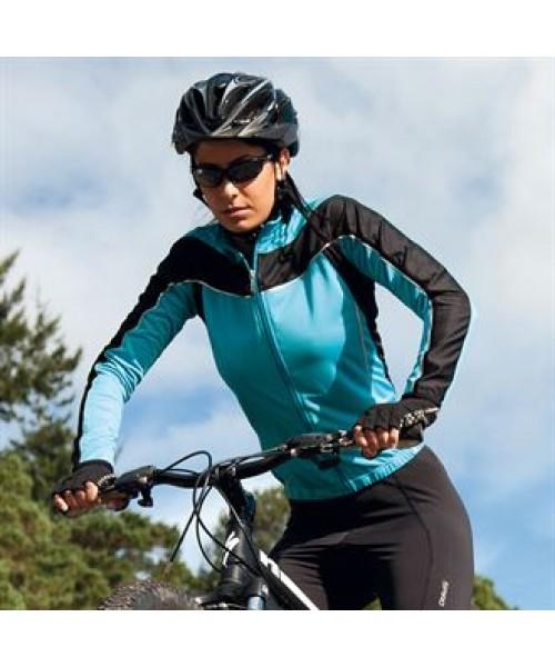 Plain LADIES BIKEWEAR LONG SLEEVE PERFORMANCE CYCLING TOP SPIRO 170 GSM