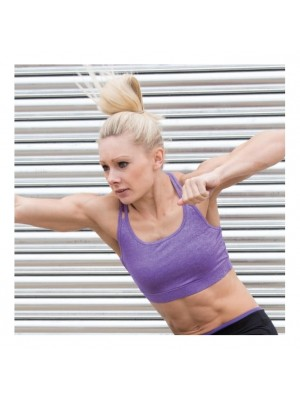 Plain Women's fitness croptop SPIRO 180 GSM