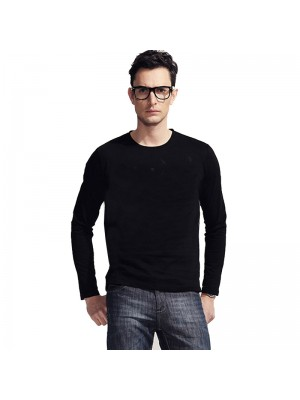 SNS long sleeve 100% cotton t shirt