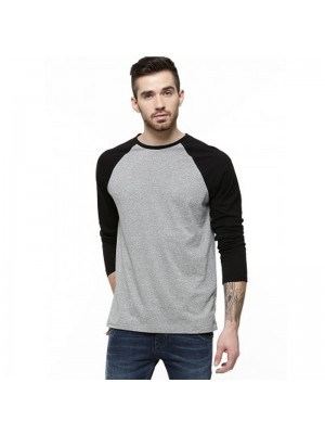 SNS Contrast Baseball 100% Cotton Long Sleeve T Shirts