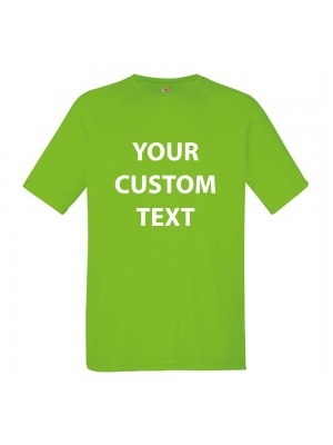 Personalised T Shirt Kids Performance Fruit of the loom 140gsm with custom design printed