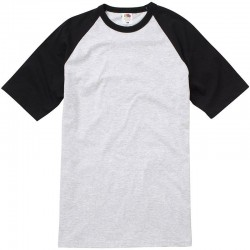 Personalised T Shirt Contrast Baseball Fruit of the loom White 160gsm, Colours 165gsm with custom design printed