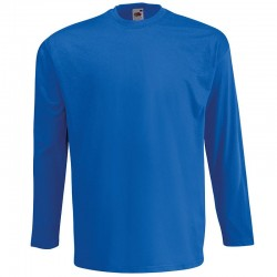 Personalised T Shirt Long Sleeve Value Fruit of the loom White 160gsm, Colours 165gsm  with custom design printed