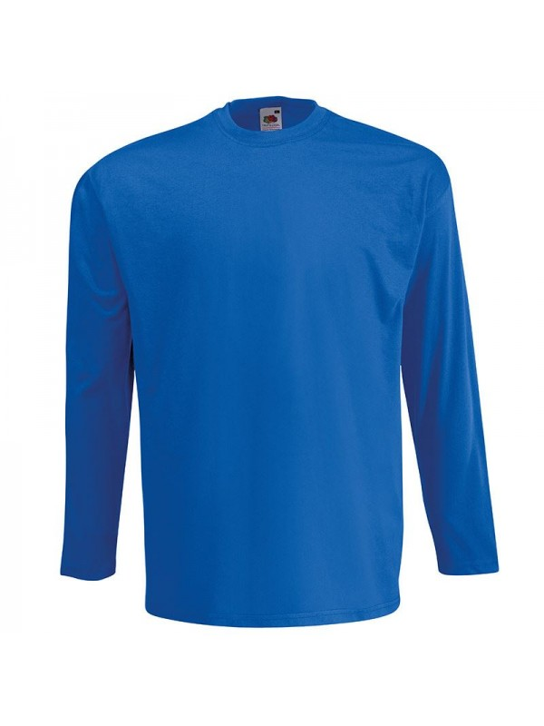 Personalised t shirt long sleeve value fruit of the loom for T shirt design sleeve print