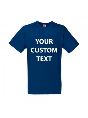 Personalised T Shirt V Neck Value Fruit of the loom White 160gsm, Colours 165gsm with custom design printed