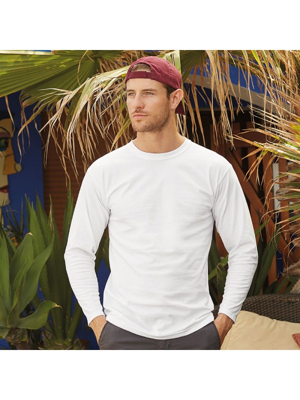 Personalised t shirt long sleeve super premium fruit of for Premium plain t shirts