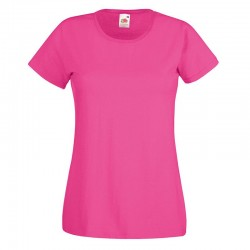 Personalised T Shirt Lady Fit Value Fruit of the loom White 160gsm, Colours 165gsm  with custom design printed