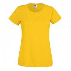 Personalised T Shirt Lady Fit Original Fruit of the loom White 160gsm, Colours 165gsm  with custom design printed
