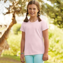Personalised T Shirt Girls Sofspun Fruit of the loom White 160gsm, Colours 165gsm  with custom design printed