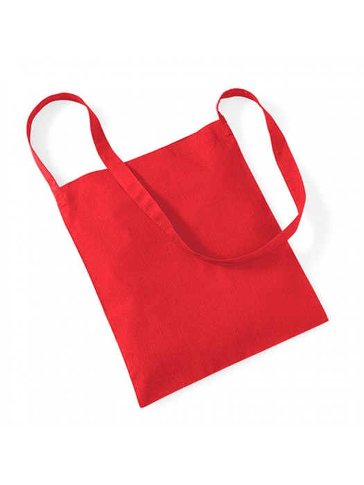 Bright Red Westford Mill Sling cotton tote bag