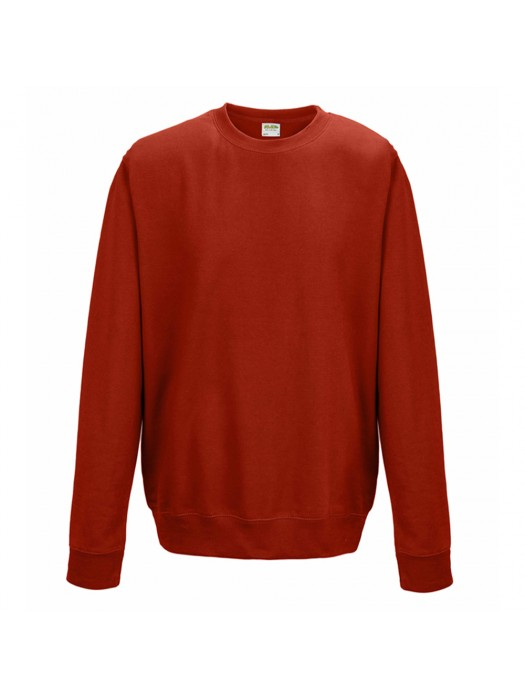 Plain AWD Fire Red crew neck sweatshirt