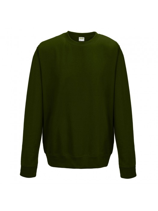 Plain AWD Forest Green crew neck sweatshirt