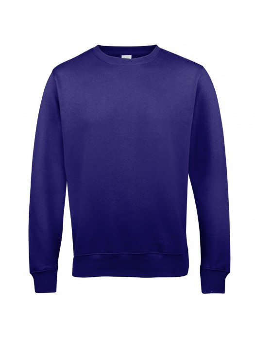 Plain AWD Purple crew neck sweatshirt