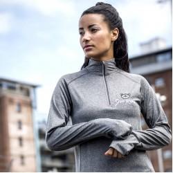 Gym Wear Zip Top Women's long sleeve ¼ zip Gym Kitty Fitness Training, Yoga