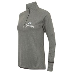 Gym Wear Zip Top Women's long sleeve ¼ zip Gym Kitty Fitness Training, Yoga