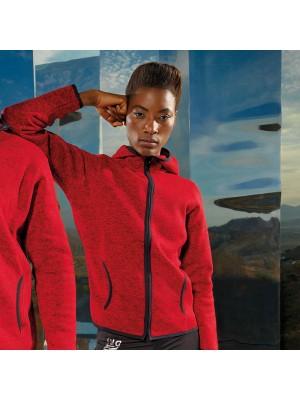 Plain Women's Melange knit fleece jacket TriDri 280 GSM