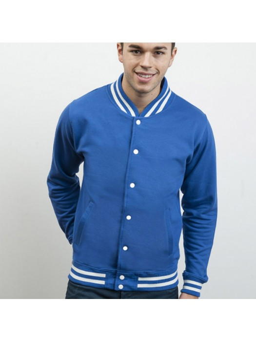 Royal Blue AWD college Jackets in same body sleeve colour