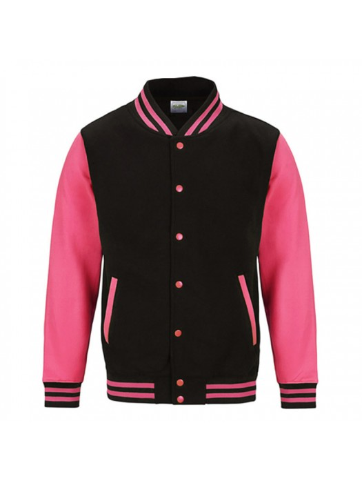 Neon Electric Pink AWD Varsity Jackets